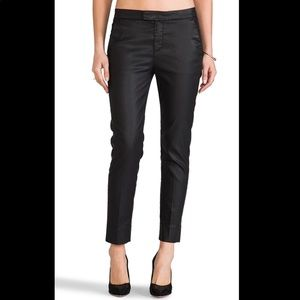 7 For All Mankind Faux Leather Cropped Chinos